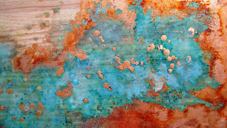 Alchemy Series Untitled 3 Copper leaf & chemically enhanced patina on recycled timber