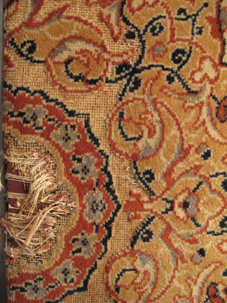 Carved vintage carpet remanants