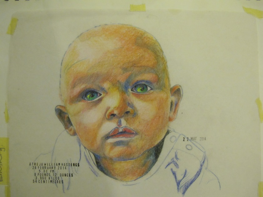 Mine Coloured pencil on paper